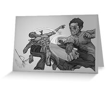 Graphic Novel Image - The Consumer v The One Eyed King Greeting Card