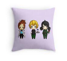 Chibi Stargate - Girl Power Lineup Throw Pillow