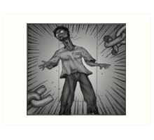 Graphic Novel Image - Breaking the chains of... Art Print