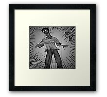 Graphic Novel Image - Breaking the chains of... Framed Print