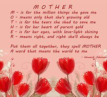 M-O-T-H-E-R Meaning for Mother's Day Products by Vickie Emms