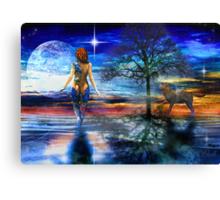 A Lunar Landscape Canvas Print