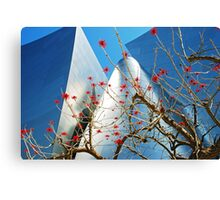 Red Flowers and Disney Canvas Print