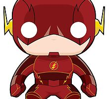 The Flash Funko Pop by averagejoeart