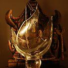 wood glass brass by leenybean