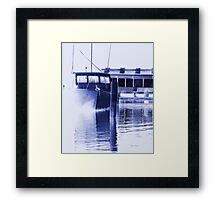fishing at Woy Woy 4.0 Framed Print