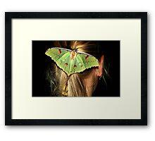 LUNAR/MOON MOTH– Argema mimosae Framed Print