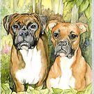 Boxer Dogs by morgansartworld