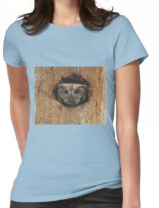 Hoot in a hole Womens Fitted T-Shirt