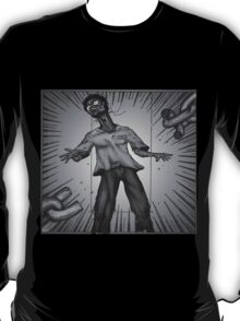 Graphic Novel Image - Consumer breaks the chains of... T-Shirt