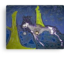 The Blue Hunt Canvas Print