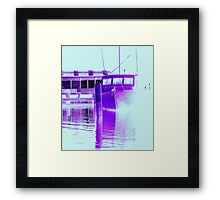 fishing at Woy Woy 3.0 Framed Print