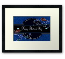 Dark Navy and Blue Mother's Day Products Framed Print