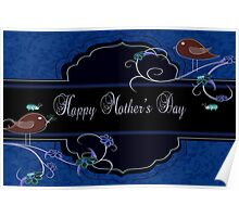 Dark Navy and Blue Mother's Day Products Poster