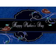 Dark Navy and Blue Mother's Day Products Photographic Print