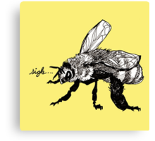 the plight of the honeybees Canvas Print