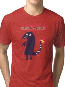 Shartmander - Believe in Yourself (Reddit Tattoo Charmander) Tri-blend T-Shirt