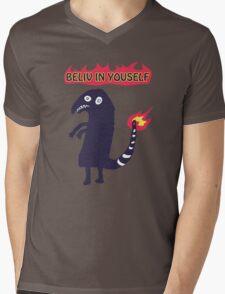 Shartmander - Believe in Yourself (Reddit Tattoo Charmander) Mens V-Neck T-Shirt