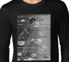 Graphic Novel Image - Robbie Digital enters the information super highway Long Sleeve T-Shirt