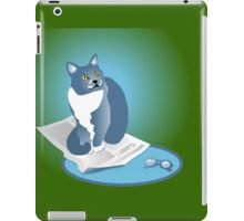 Jack Cat Reads The News Tee iPad Case/Skin