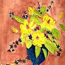 Flowers in a vase by GEORGE SANDERSON