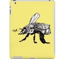 the plight of the honeybees iPad Case/Skin