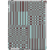 Hip Retro Geometric Abstract Piano Key Bars and Blocks Rectangle Shapes Tiled Pattern Puce and Robin's Egg Blue iPad Case/Skin