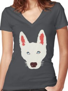 Olaf the Dog  Women's Fitted V-Neck T-Shirt