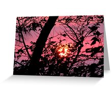Cutting the Sunset Greeting Card