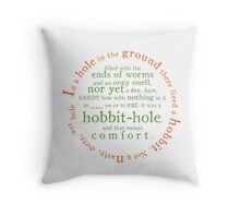 A hole in the ground Throw Pillow