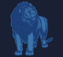 Blue Lion T-Shirts by Cheerful Madness!! by cheerfulmadness