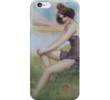 Lovely Lady Image From 1902 by Sherri Nicholas iPhone Case/Skin