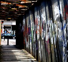 Graffiti bridge by Paul Reay