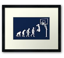 Funny Basketball Dunk Evolution of Man Framed Print
