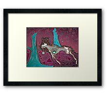 The Pink & Teal Hunt Framed Print