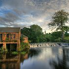 Pollok Weir Glasgow by Bill Crookston
