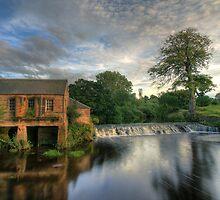 Pollok Weir Glasgow by Bill Crookston