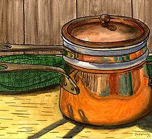 Copper Double Boiler by bernzweig
