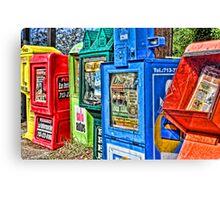 Newspaper Boxes Canvas Print