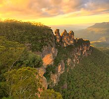 Icon - Sisters Sticking Togerther - Blue Mountains World Heritage Area, Sydney Australia - The HDR Experience by Philip Johnson