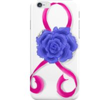 Breast Cancer Awareness Ribbon and Rose iPhone Case/Skin