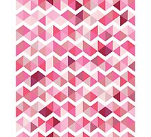 Pink chevron Photographic Print