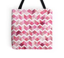 Pink chevron Tote Bag