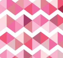 Pink chevron Sticker