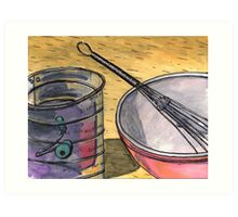 Flour Sifter and Whisk Art Print
