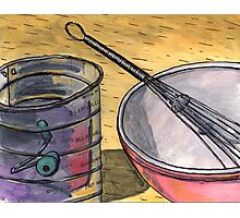 Flour Sifter and Whisk Photographic Print