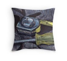 Tape Measure and Screwdriver Throw Pillow