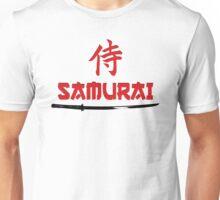 Samurai Kanji text and katana Unisex T-Shirt