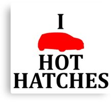 I Heart Hot Hatches Canvas Print