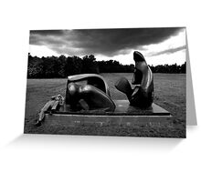 Henry Moore Sculpture Greeting Card